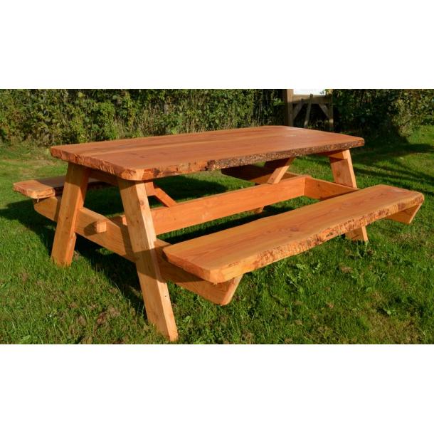bord bænk Bord/bænk sæt i douglas   samlesæt   Havemøbler i træ   Oksbøl  bord bænk
