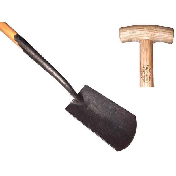 Englesk spade - Smede jern - 750mm aske skaft.