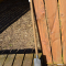Englesk spade - Smede jern - 750mm mørks aske skaft.