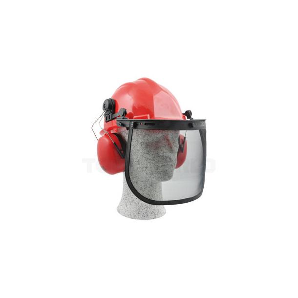 Sikkerheds hjelm med visir og høreværn